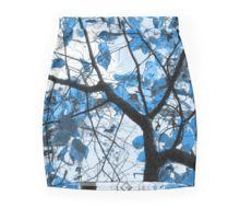 Cerulean Leaves Pencil Skirt by Shawna Rowe  #fashion #blue #skirt #trees #wearableart #apparel