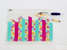 Cool crafts for Back to School: How to make a personalized pencil case with washi tape. Easy!
