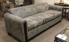 We have two of these microfiber sofas on the floor for $298 each!