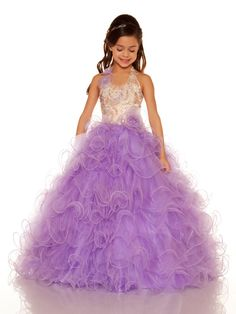 Size 12 Ice Blue In StockEye-catching, stunning and contemporary describe the beauty of this little girls pageant frock. Mac Duggal has the pleasure to dress your little girl in this Sugar 81680S featuring a printed sequin bodice with fun beaded flowers on side of  halter top and at the natural waistline. Playful wire spirals along the full skirt make this dress the number one trend. Complete her look with pageant shoes and accessories that are sure to be a winning combination. Available in…