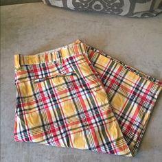 PJ Mark Plaid Shorts In a size 42 men's PJ Mark Shorts Flat Front