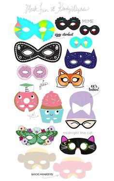 A Kitschy Digitals Collaboration: Printable Masks