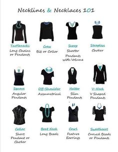 How to match your necklaces with your top