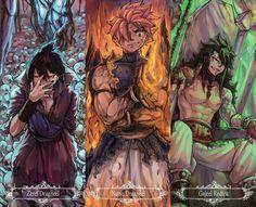 Fairy Tail: Natsu Dragneel , Gajeel Redfox , Zeref Dragneel