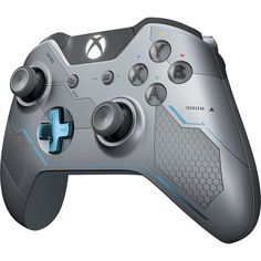 Own the Xbox One Limited Edition Halo 5: Guardians controller featuring a unique laser-etched design, metallic blue accents, military insignias, and a bonus REQ Pack including the Resolute visor. Inspired by Spartan Locke and UNSC technology, this extraordinary controller takes you deeper into the Halo Universe.