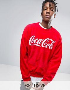 Compra Sudadera extragrande con diseño afelpado de Reclaimed Vintage  Inspired X Coca Cola en ASOS. Descubre la moda online.