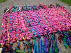 The Mediation Mat crochet pattern-ideal for recycled sari silk yarn/t-shirt yarn/rags Crochet Patterns For Beginners, Easy Crochet Patterns, Beading Patterns, Crochet Ideas, Ribbon Crafts, Fabric Crafts, Crochet Yarn, Crochet Afghans, Free Crochet