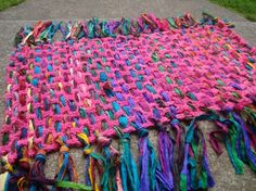 The Mediation Mat crochet pattern-ideal for recycled sari silk yarn/t-shirt yarn/rags