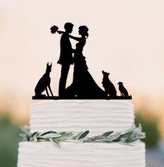 Wedding Cake Topper /Engagement Cake Decoration (Cat Dog Puppy Pet)