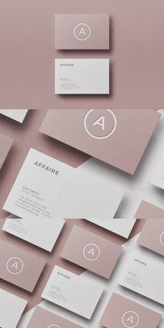 Card Design Discover Business card Template & Mock-up Minimalist Business Cards, Elegant Business Cards, Cool Business Cards, Business Card Mock Up, Professional Business Cards, Business Card Design Inspiration, Business Design, Corporate Design, Business Ideas