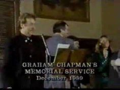 Graham Chapman's funeral, I hope I have friends like this when I die.
