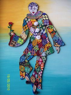 Quadro em Quilling by Martinaquill, Carnaval  Now this is quilling as an art form!