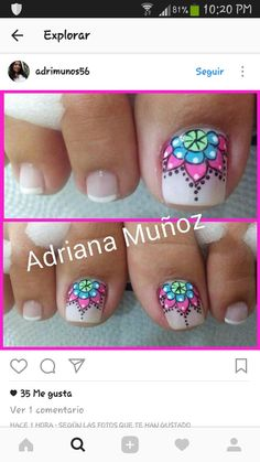 Toe Nail Art, Toe Nails, Pretty Pedicures, Toe Nail Designs, Pretty Toes, Perfect Nails, Manicure And Pedicure, Girly Things, Hair Beauty