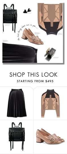 """""""》black leather《"""" by anja-m on Polyvore featuring Cusp by Neiman Marcus, adidas Originals, McQ by Alexander McQueen, Gucci, D&G, contest, Leather, polyvoreset and simplebutneverplain"""