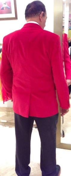 Carroll Red Velvet Jacket @ Thomas Pink. Jermyn Street, St James's, London