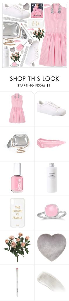 """Без названия #133"" by lena-volodivchyk ❤ liked on Polyvore featuring Miu Miu, Victoria's Secret, By Terry, Essie, Sonix, BillyTheTree and BBrowBar"