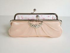 Pretty in Pink Bridal Clutch www.saracaccessories.com