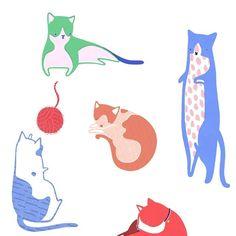 "heylittledoodles: ""World Cat Day  """