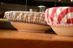 Couvercles en tissu, une bonne alternative au papier aluminium et au film plastique dans notre cuisine