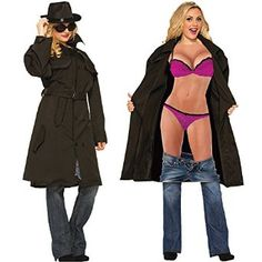 Naked flasher halloween costume women