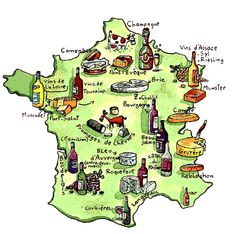 yet another fromage map of france. France Map, France Europe, France Travel, Paris France, French Class, French Lessons, Brie, Food Map, French Cheese