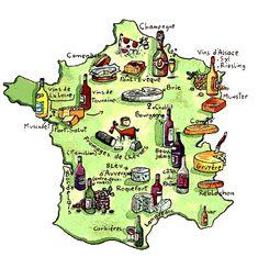 vins et fromages en France