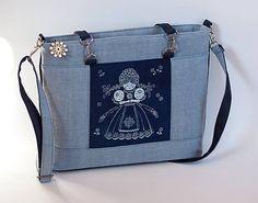 Elegantná kabelka Modrotlač Bábika