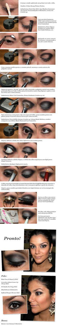 silver black, maquiagem, makeup