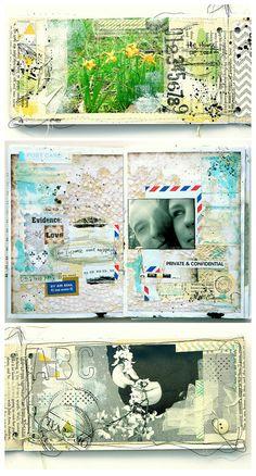 Art journal  by Magda Bolinska     http://scrapnews.net/inspiration/285-skrapbuking-v-licah.html