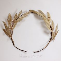 Champagne gold metallic silk olive leaves, handmade by Bianca Snow