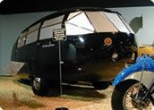 "National Automobile Museum: A superstar has returned to this ""Top 5 in the U.S."" car museum: genius Buckminster Fuller's famed 1934 Dymaxion. Newly restored in the U.K., this car was so far ahead of its time, it's scary! (And ours is the only one left in the world!) Vroom!"
