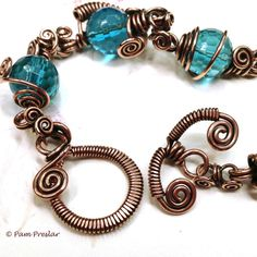 TUTORIAL  Wrapped Toggle Clasp Wire Jewelry Making by OneWildBead.