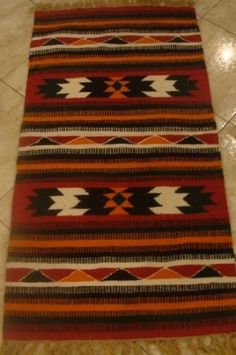 100 Wool Handloomed Handmade Egyptian Tirbal Kilim Rug 28x61 Inch Kitchen