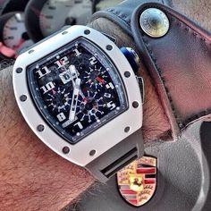 Richard Mille RM011 ✖️ Porsche #watch #watchporn #wristgame #porsche #gentleman…