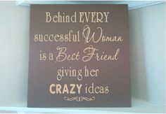 For my best friend... Beautiful 8x8 wooden sign with vinyl by uniquevinyldesigns on Etsy, $14.00