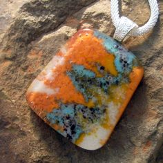 Fused Glass Pendant  Stone Look Glass Pendant by GlassCat on Etsy, $30.00