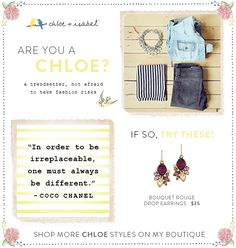 Are you a Chloe?http://www.chloeandisabel.com/boutique/stellabella/b1dc0b