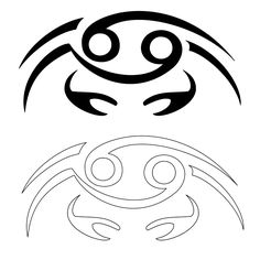 Cutesy crab design for cancer zodiac sign! According to the western zodiac, people born in the sign of the cancer, moon connected, have a strong emotionality that they often hide under a thick carapace, similar to the one of their symbolic animal. Cancer Sign Tattoos, Cancer Crab Tattoo, Horoscope Tattoos, Zodiac Sign Tattoos, Zodiac Signs, Shen Long Tattoo, Krebs Tattoo, Samourai Tattoo, Crab Tattoo