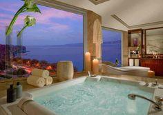 Bath with the view, Hotel President Wilson, Geneva