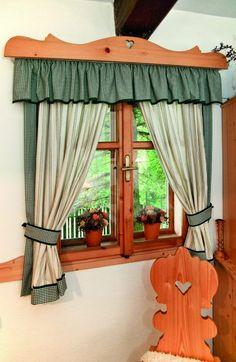 Věšíme záclony a závěsy | Chatař Chalupář Valance, Curtains, Cabin Homes, Cottage, Country, Bedroom, Home Decor, Curtains For Kitchen, Farmhouse Rugs