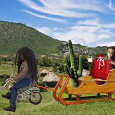 Finally made it back to my village! Transport is always an adventure in the country of Africa: ostriches, trucks, and finally sleighing in to town in style with gifts and blessings for all! #yougetacacti #andyougetacacti #andYOUgetabigcacti #imbringingaestheticsback #Barbiethewhiteskinnedsavior #hadveryshinyhair #sleighingandsavingallday #joytoAfricabarbiesaviorhascome #dotheyknowitschristmastimeatall #nowtheydo #thankstome #walkinginanorphanwonderland #ohcomeletusadoreme #GodBlessMeEveryone