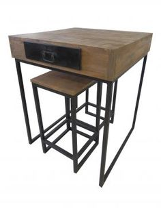Industriel chic on pinterest loft brooklyn and php - Table haute style industriel ...