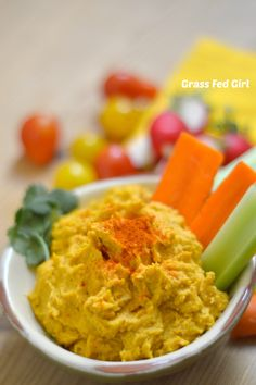 Paleo and Low Carb Pumpkin Hummus Recipe Grass Fed Girl