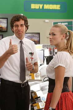 chuck and sarah @Kaley this goes back to his nerdy days is seasons one and two ;) lol