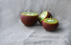 Kiwi Candles Handpainted Ball Candles Set Of 3 Funny Home Decor Cute Gift Fruit Candles Thanksgiving Table Decor Christmas Gift EUR) by LessCandles Fancy Candles, Diy Candles Easy, Best Candles, Homemade Candles, Scented Candles, Kiwi, Diy Candle Projects, Diy Projects, Funny Home Decor