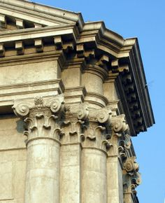 The Composite Order on the facade of the San Barnaba church in Venice, designed in 1749 by Lorenzo Boschettii; detail of the corner solution