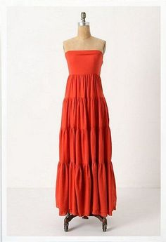 Anthropologie Edme & Esyllte Red Clay Cotton Picacho Dress