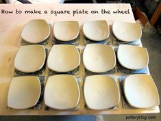 tutorial - how to make square plates on the wheel from: pottery blog >> emily murphy