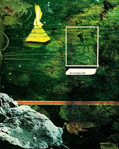 """""""The Garden"""" is about a wide range of influences from post-apocalytical movies to scripture to neo-expressionism or the meaning of 42.  #green #environmentalism #pyramid #rock #nature #sustainability #transmodernism #art #graphic_design #spiritual #layers #42 #scripture #post_apocaliptical #secularization_of_society #ecology #paradise #saatchi_online http://www.saatchionline.com/art/New-Media-Art-Digital-Collage-The-Garden/215714/1631145/view"""