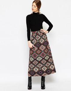 ASOS Jacquard Maxi Skirt